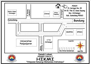 Denah Lokasi Sekretariat HIKMI Sumedang